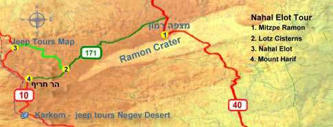Nahal Elot tour map