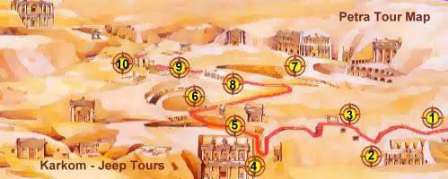 Petra tour map 1 day tour